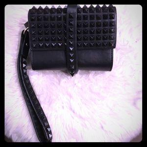 Black studded wristlet